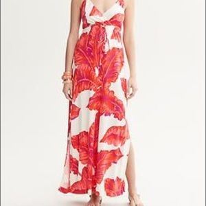 Banana Republic Milly maxi halter red floral S